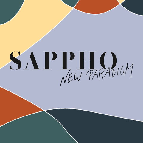 SAPPHO New Paradigm Logo on Board With Brand Colors