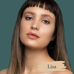 Light skin model actress Alexia Fast wearing Lisa foundation shade for Essential natural foundation