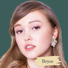 Very fair skin model wearing Bryce foundation shade for Essential natural foundation