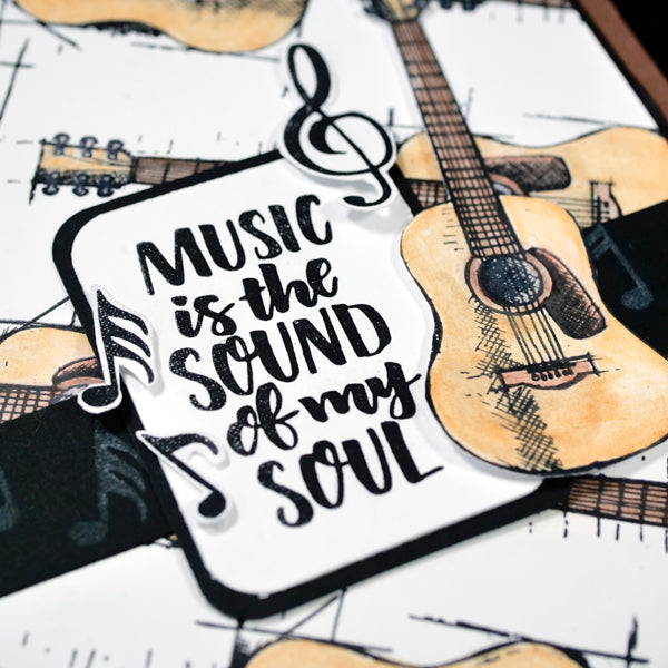 Music is the Sound of my Soul Card by Nadine