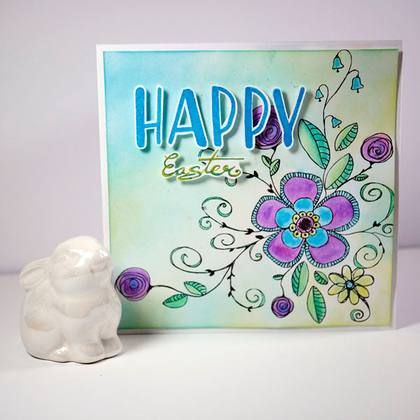 Fanciful Florals Easter Card by Nadine