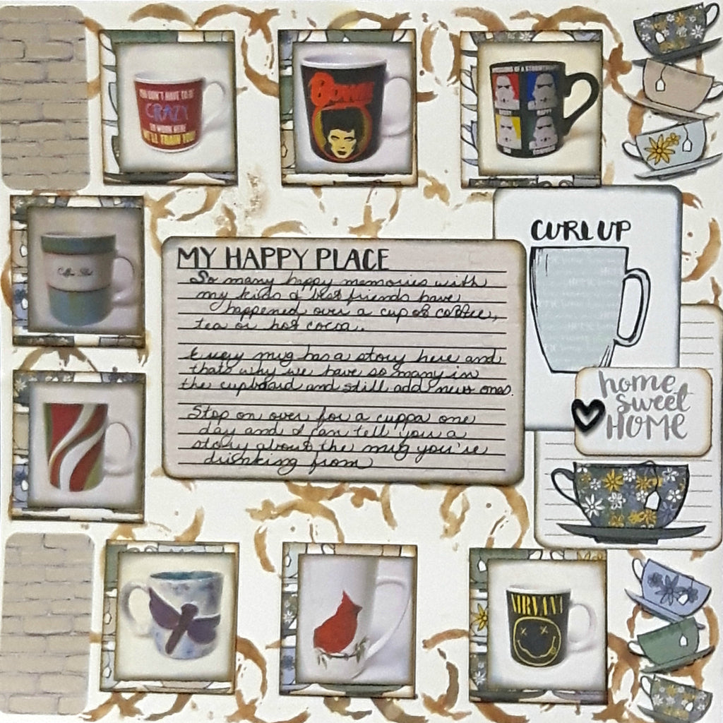 Cathy is Sharing a Layout all About Her Love of Tea!