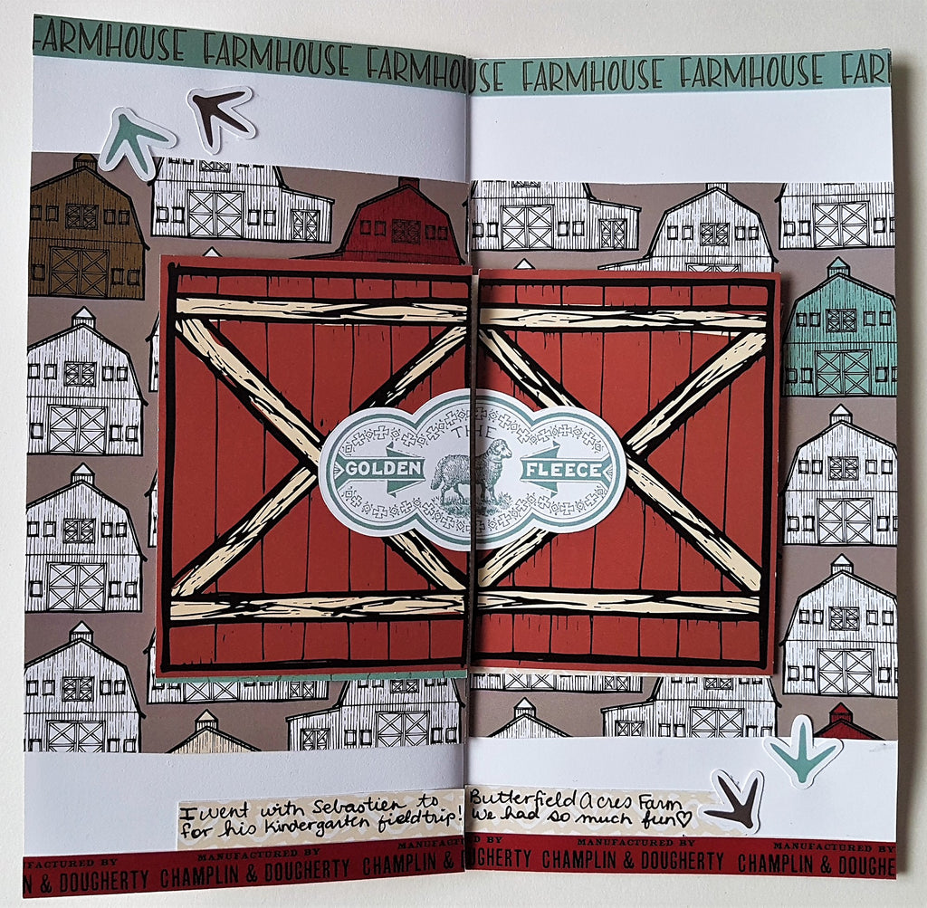 Farmhouse Traveler's Notebook layout by Jenn
