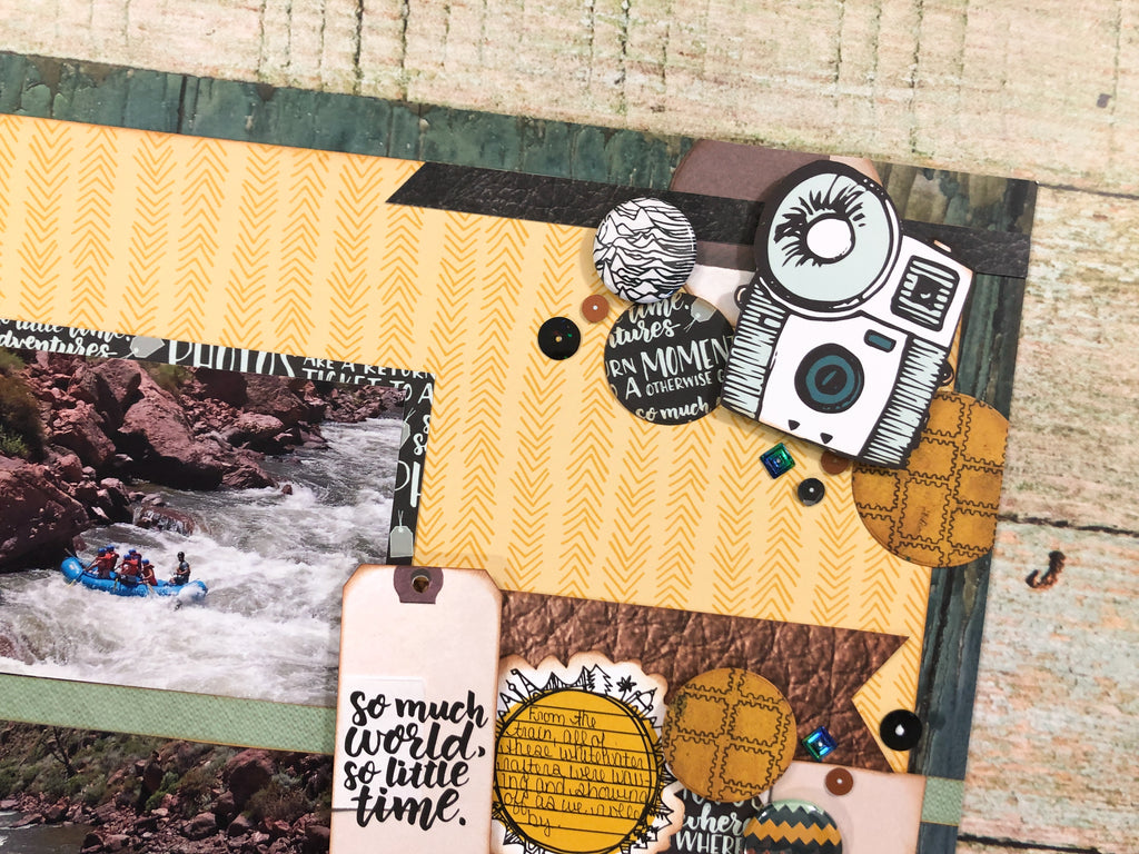 Travel Layout With Sara Scraps