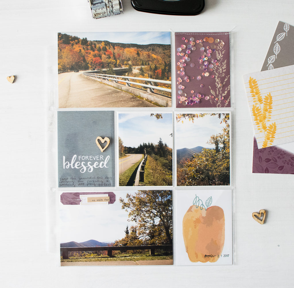 A Clean Fall Layout by Rachel