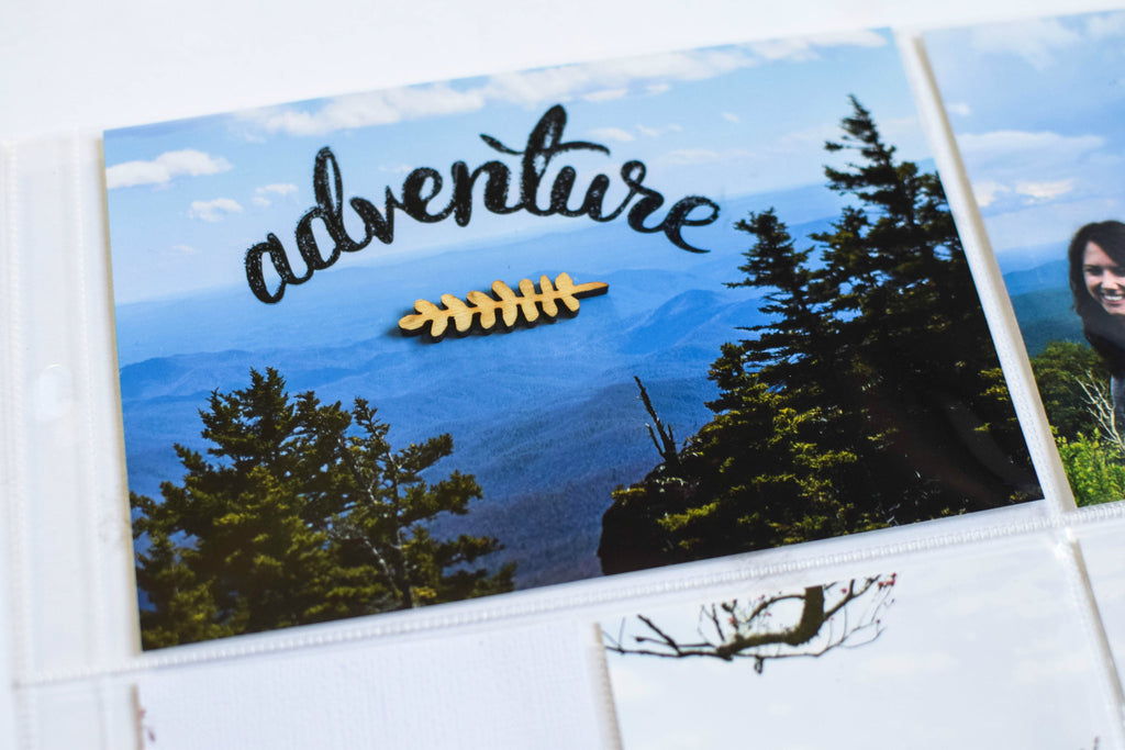 Rachel shares her Project Life Layout Featuring the Adventure Stamps