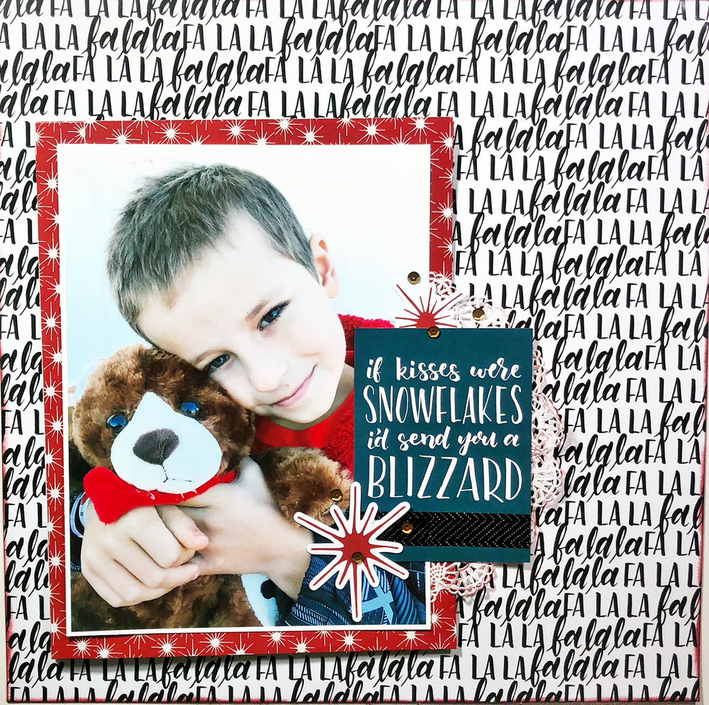 Snowflake Kisses Interactive Scrapbook Layout