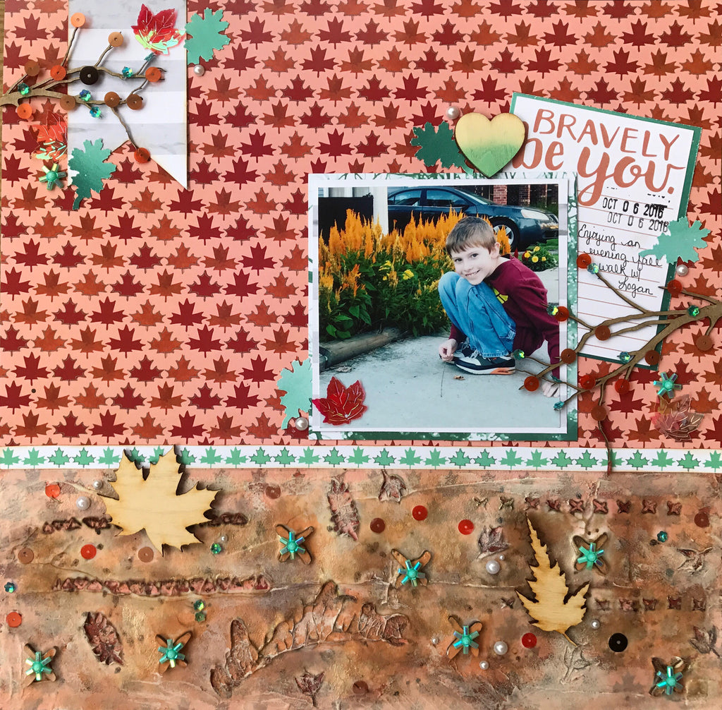 Sara shares a Mixed Media Layout with Process Video