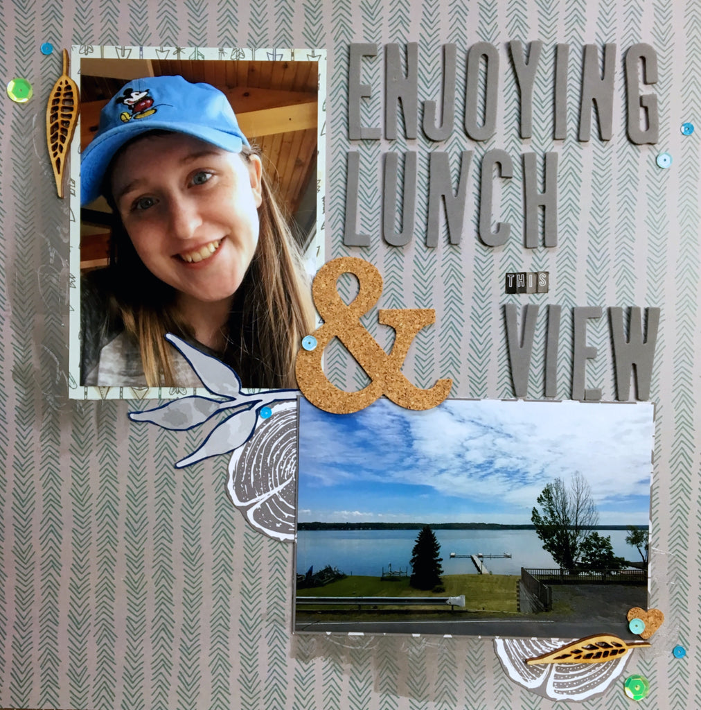 Enjoying Lunch & the View by Katelyn Clary