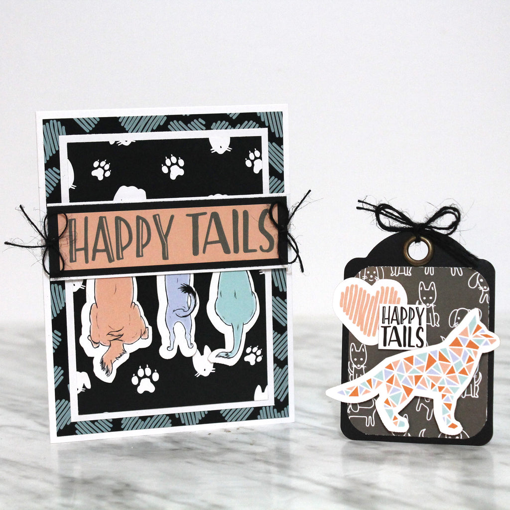 Happy Tails Card & Tag with Tracy