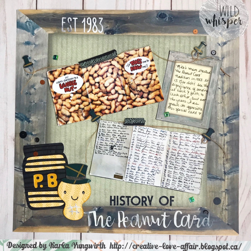 History of the Peanut Card by Karla