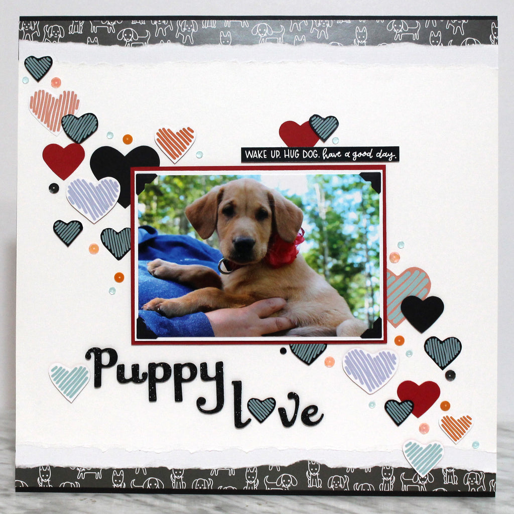 Puppy Love Layout with Tracy