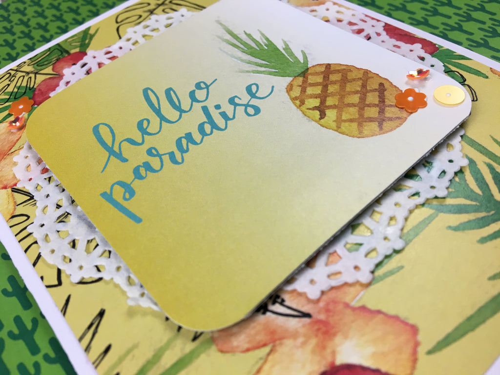 Hello Paradise Card by Katelyn Clary