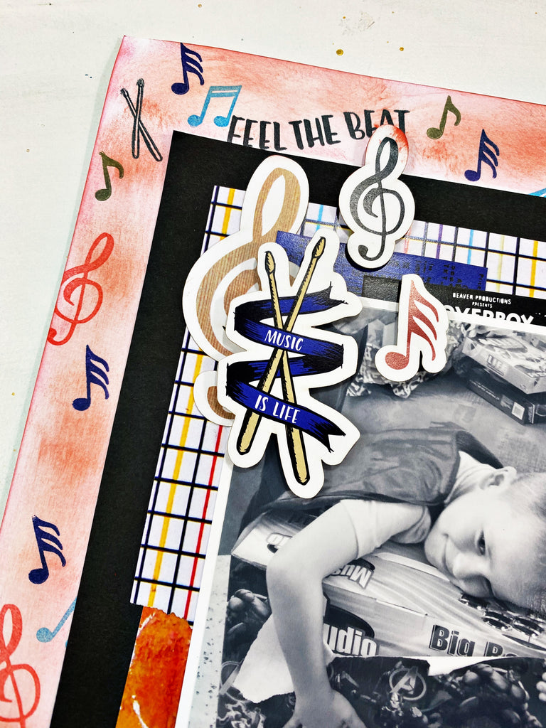 With the Band Scrapbook Layout with Khristina