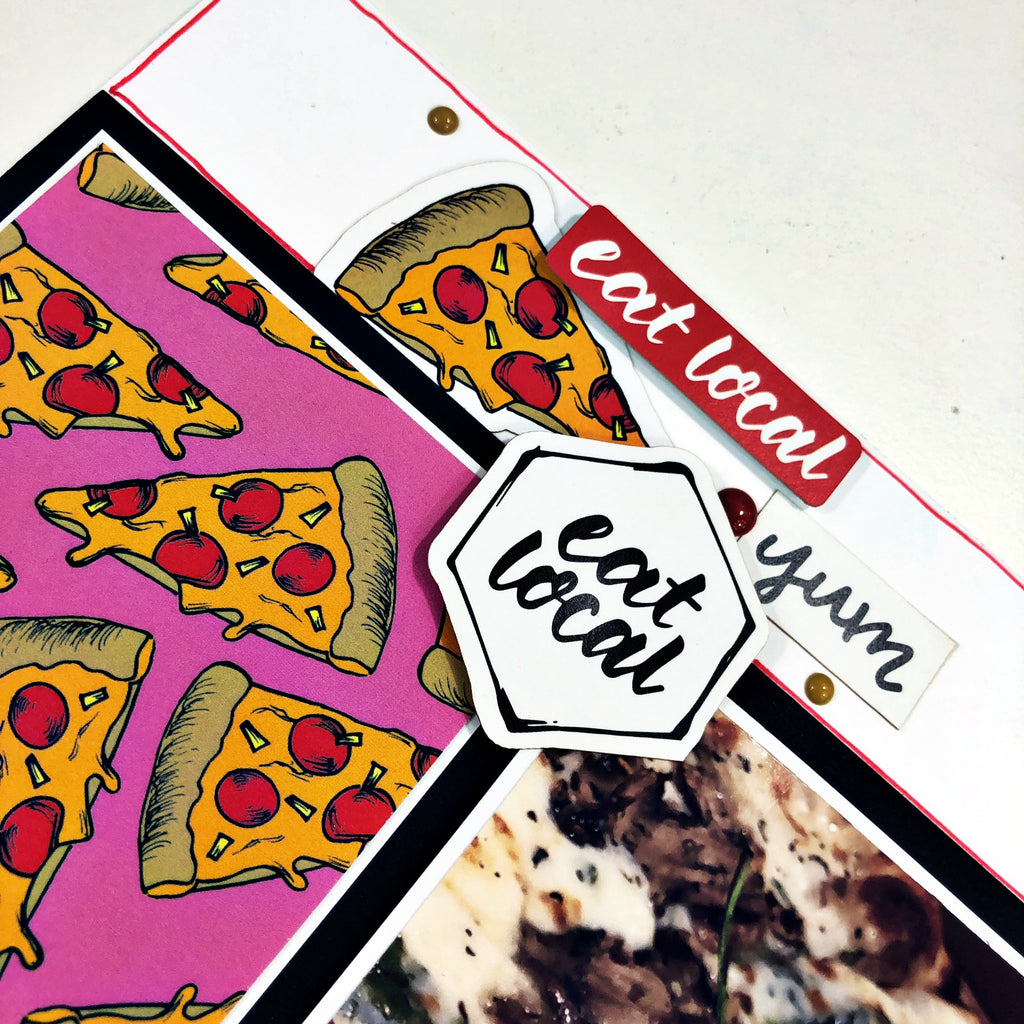 Tasty Pizza Scrapbook Layout with Khristina