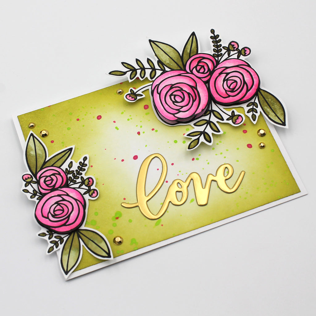 Floral Valentine Card by Tracy