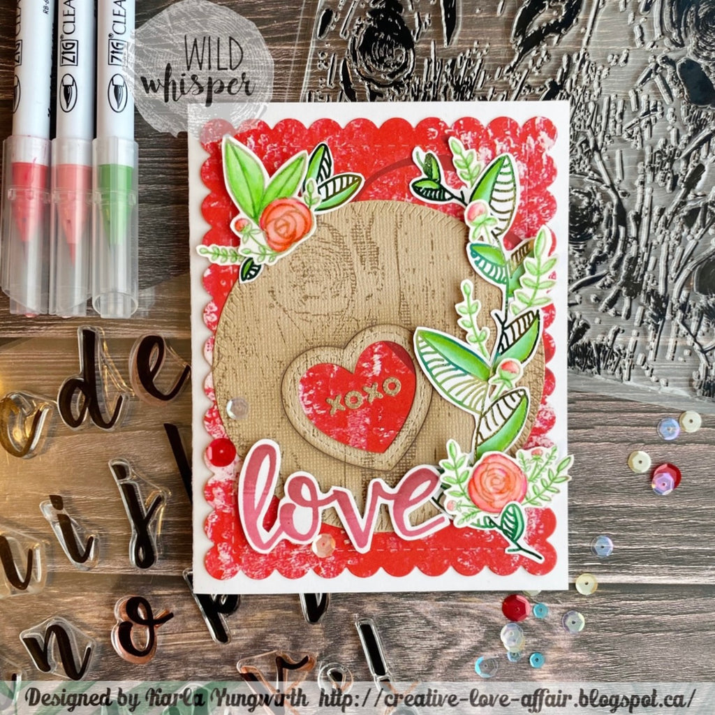 Floral Valentine Card by Karla