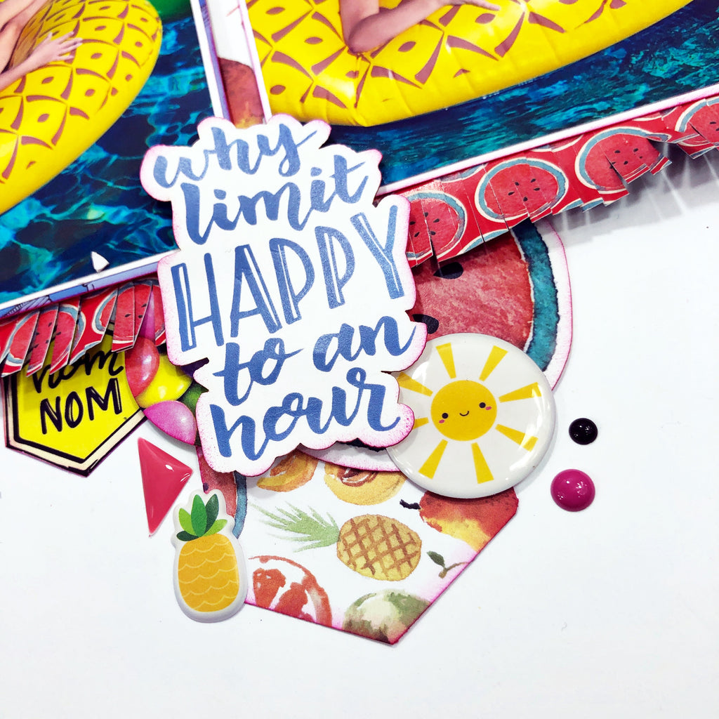 Why Limit Happy?!? Scrapbook Layout with Khristina