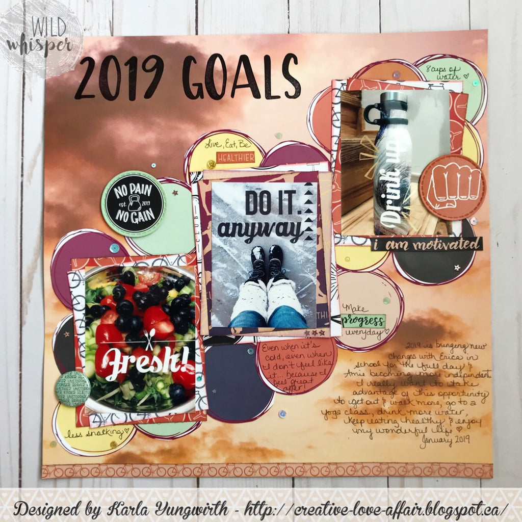 Crazy Motivated Goals Layout by Karla
