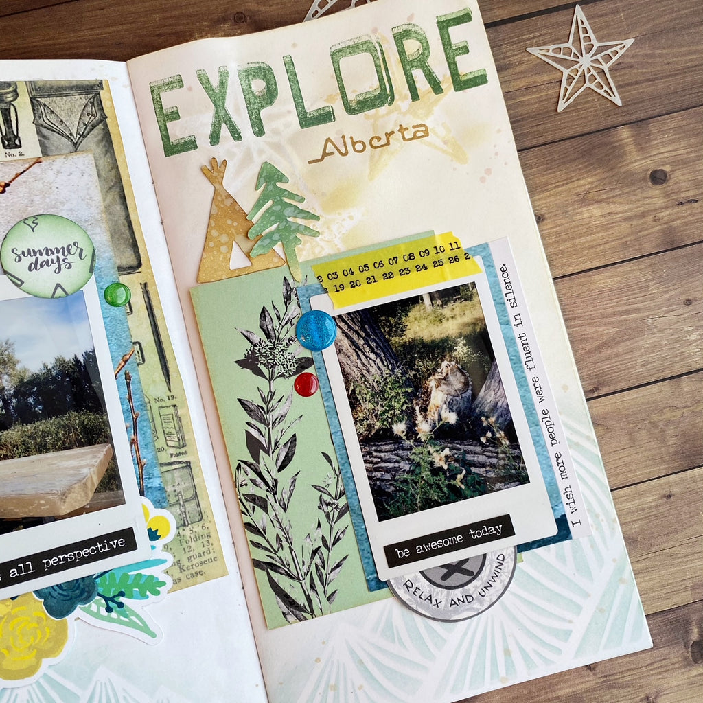Explore Travelers Notebook Spread by Karla