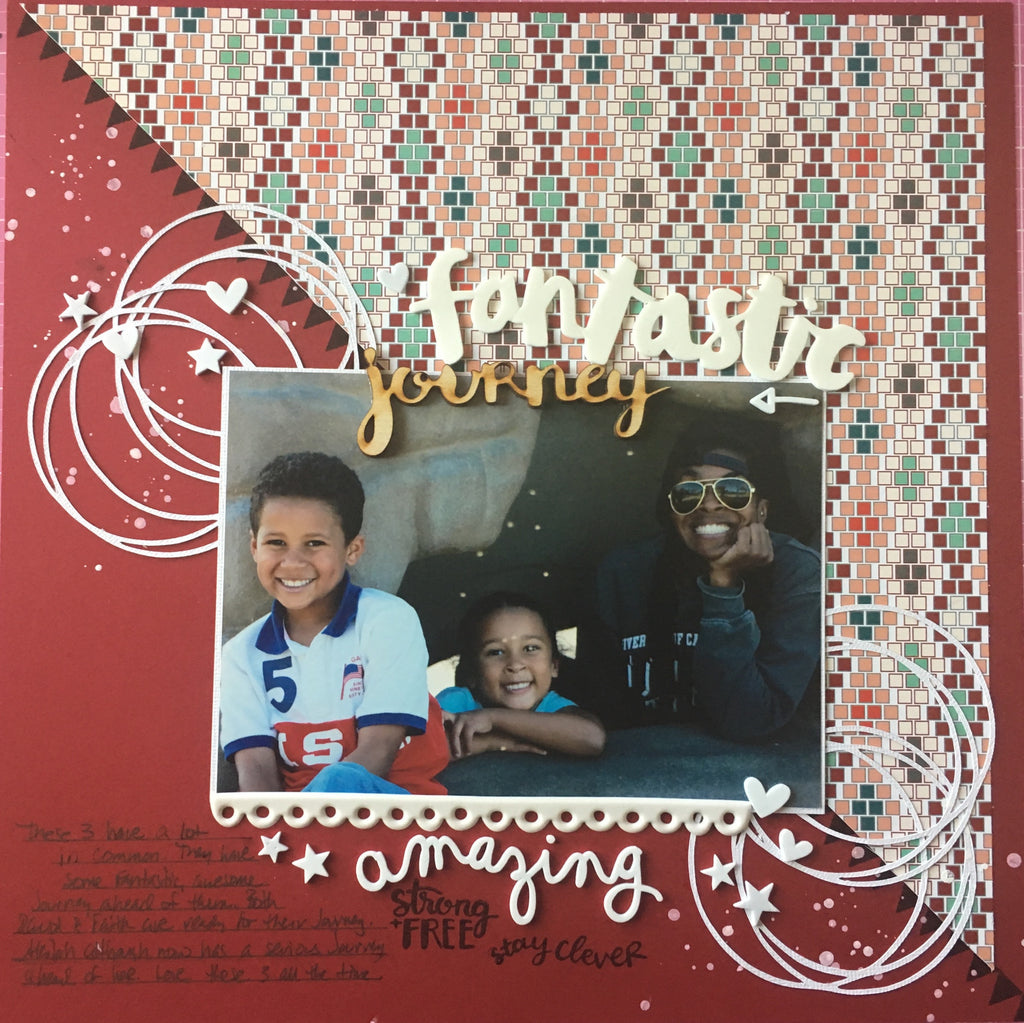 """Fantastic Journey"" Layout by Felicia"