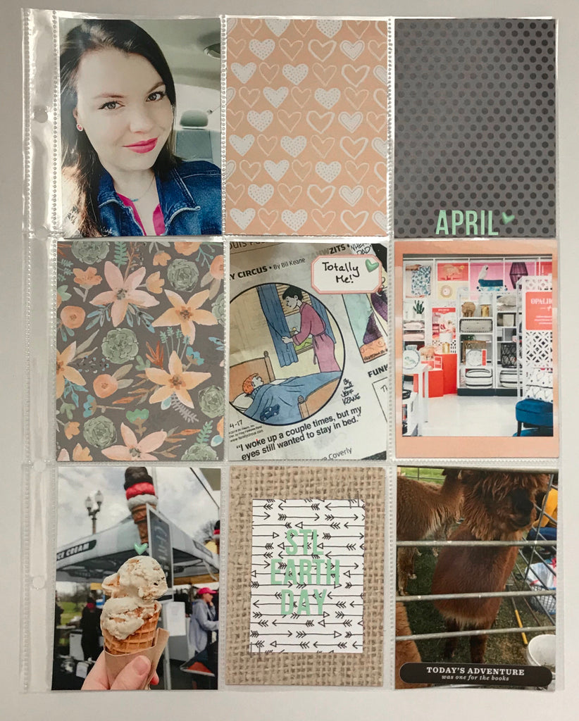 April Pocket Page by Emily