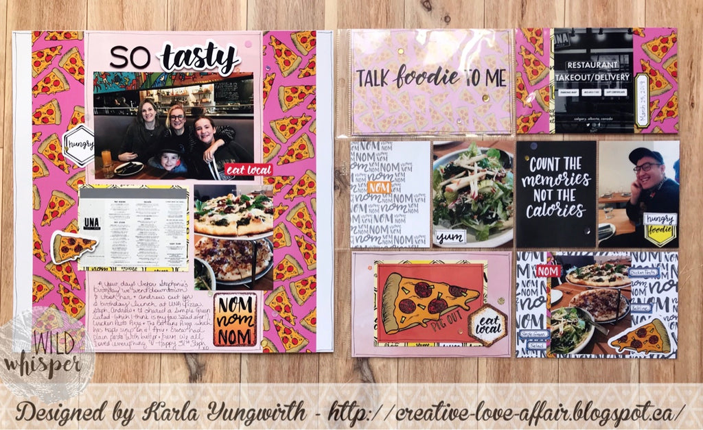 So Tasty Pizza Layout and Pocket Page by Karla