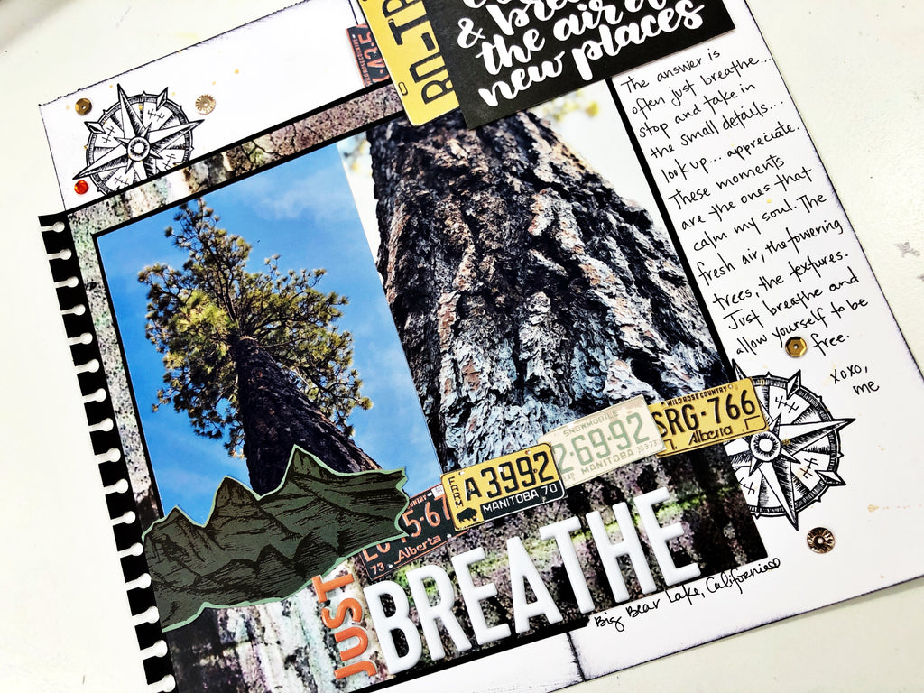 Just Breathe Traveler's Notebook Layout with Khristina