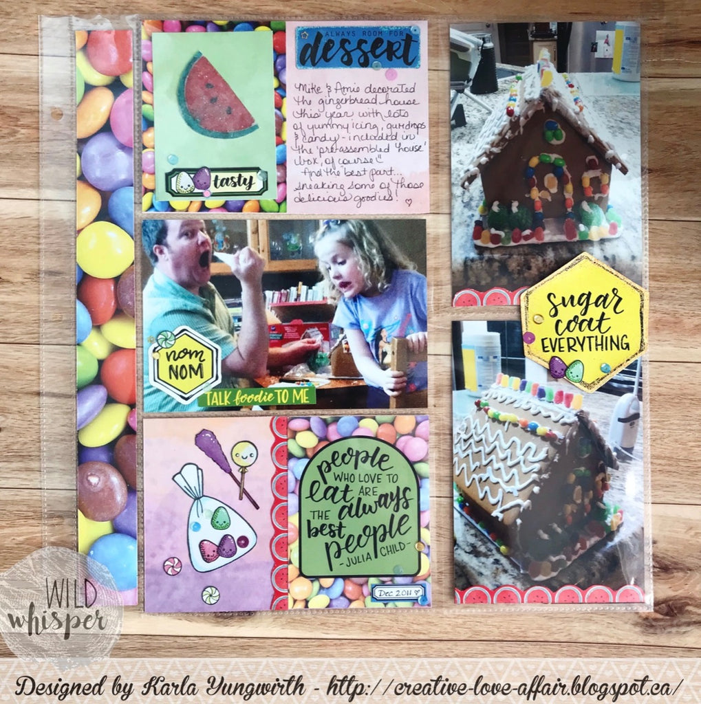 Gingerbread House Pocket Page by Karla