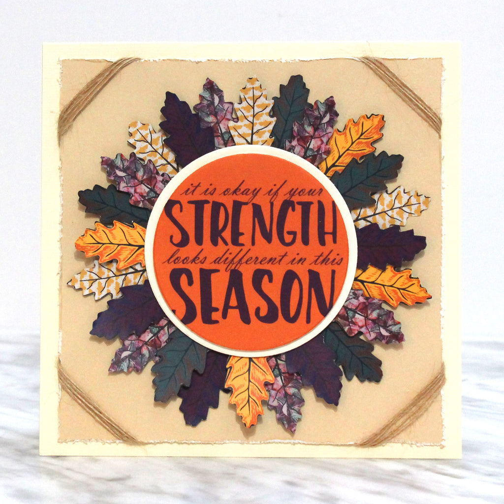 Strength of the Season Wreath Card by Tracy
