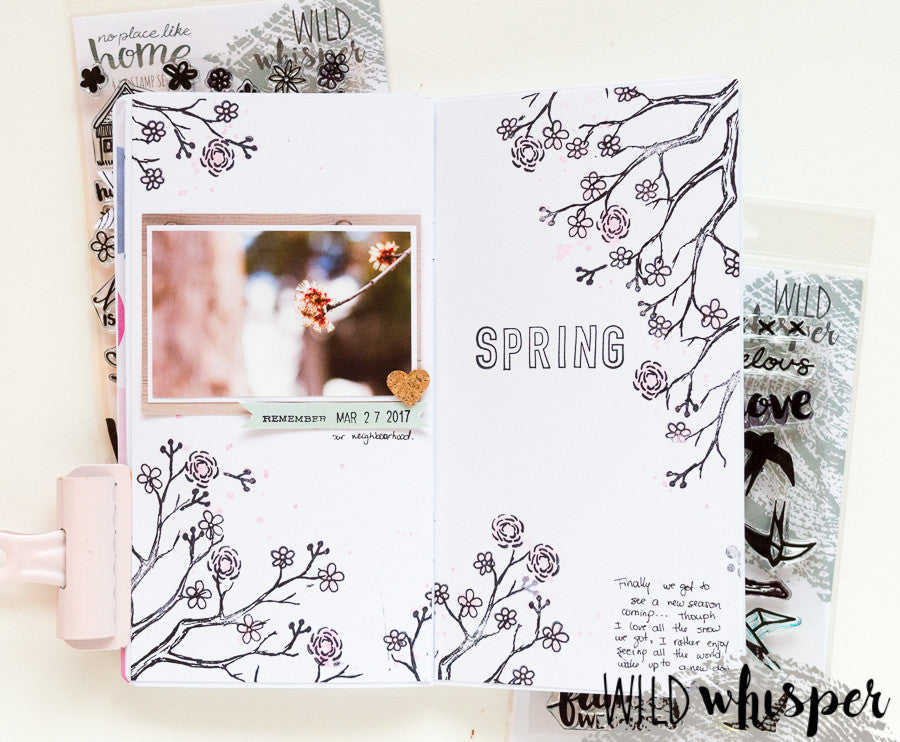 Traveller's Notebook Tutorial using the new Stamps by Nathalie