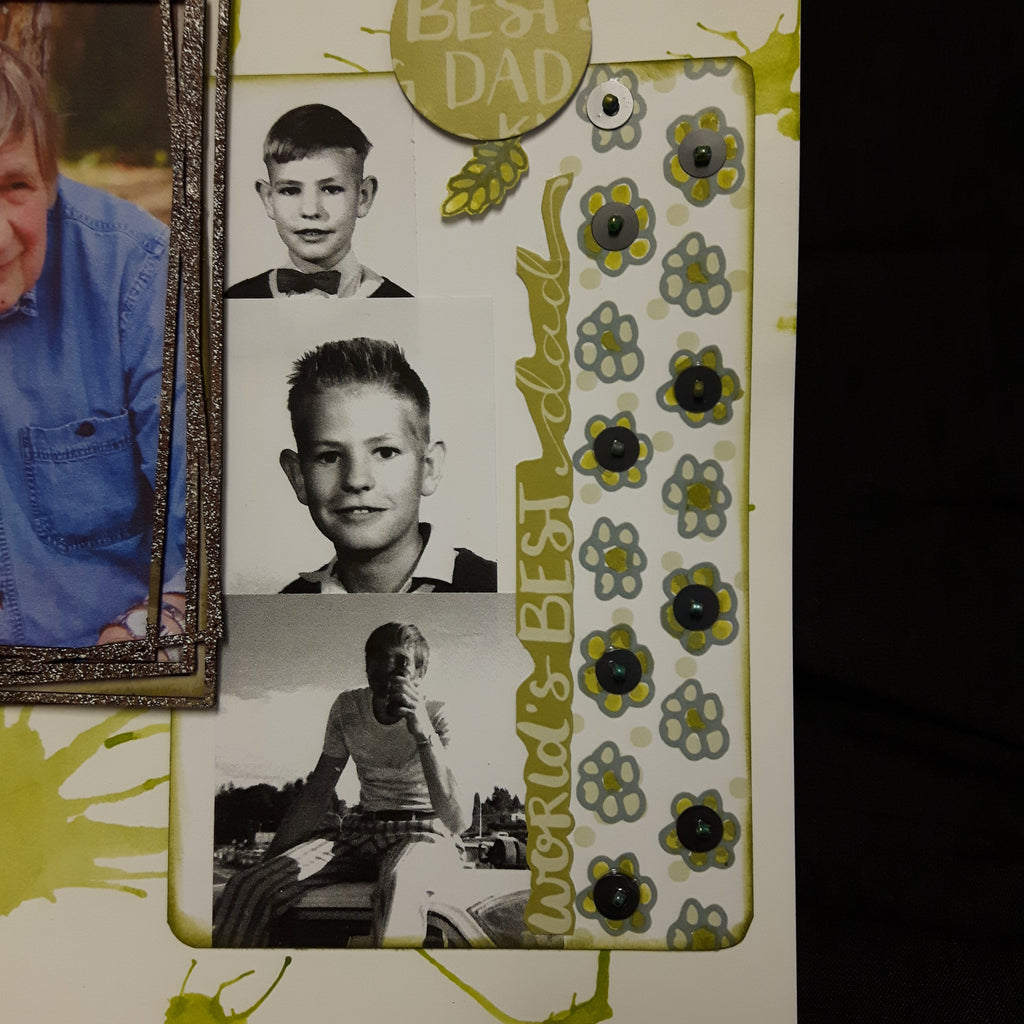 Cathy Mixes Heritage Photos with Current ones on a Layout!