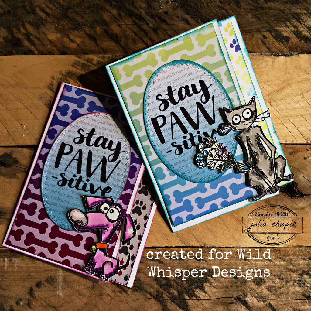 Stay Paw-sitive Cards by Julia