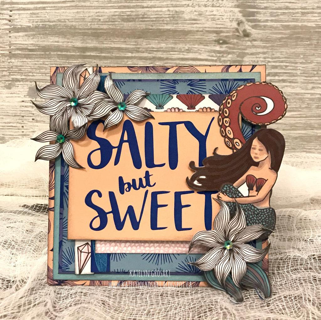 Salty but Sweet Notecard by Kately
