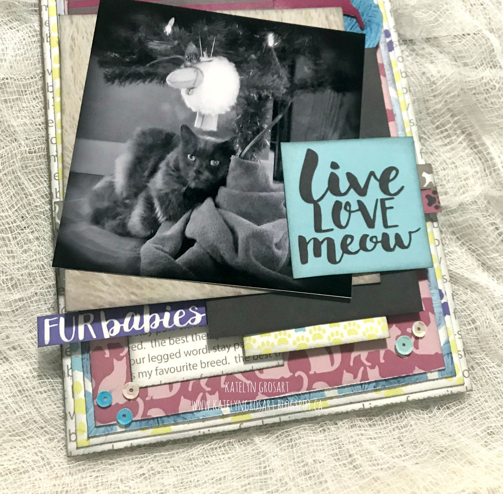 Live, Love, Meow Tag by Katelyn G