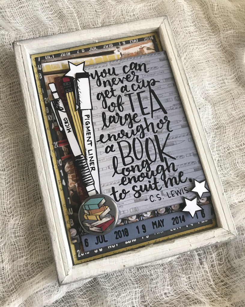 One More Chapter Home Decor Piece by Katelyn G