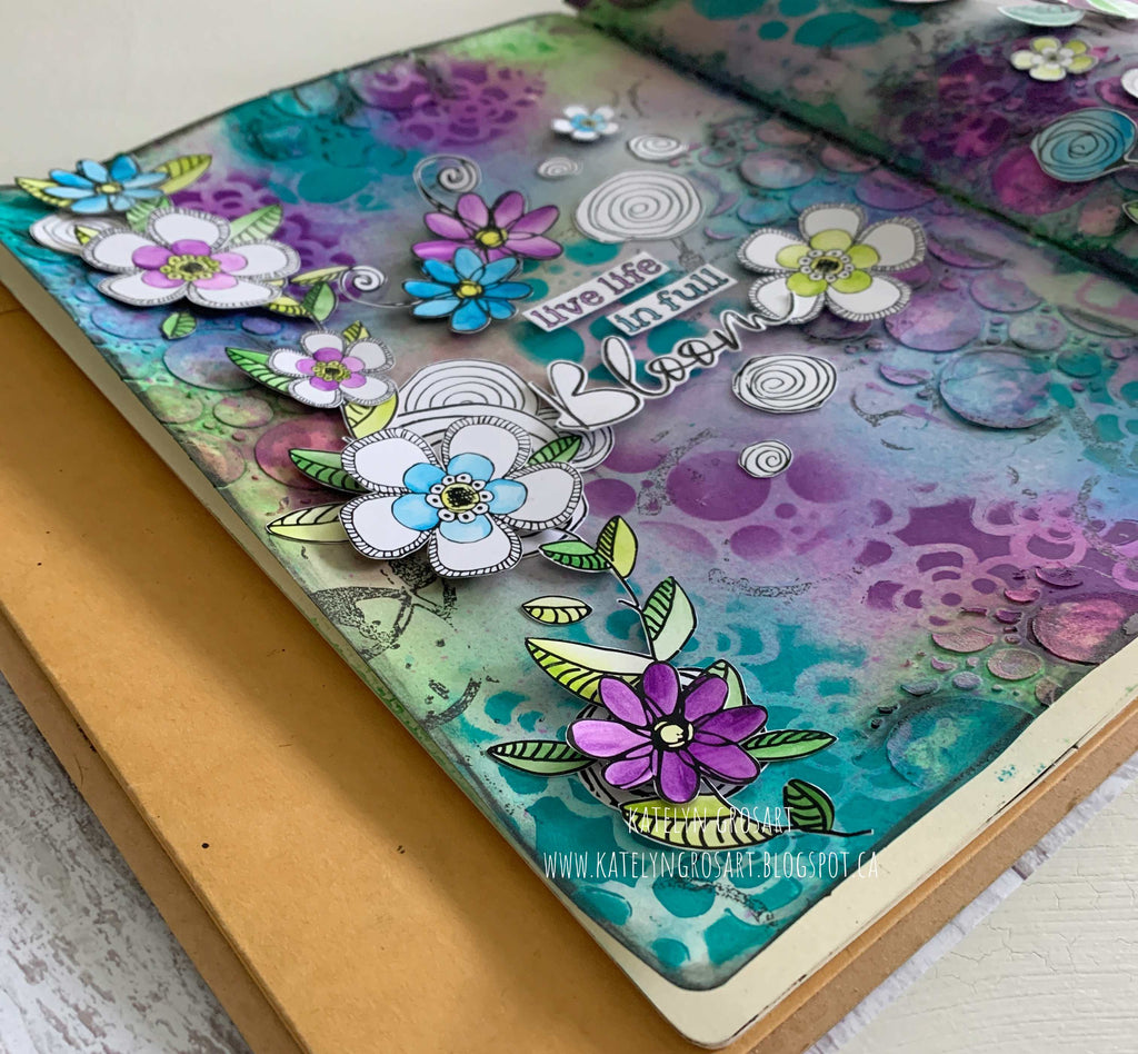 Live Life In Full Bloom Art Journal Page by Katelyn