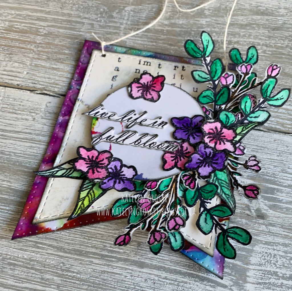 Live Life in Full Bloom Wall Hanging by Katelyn