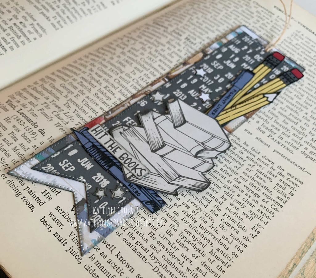 Hit The Books Bookmark by Katelyn