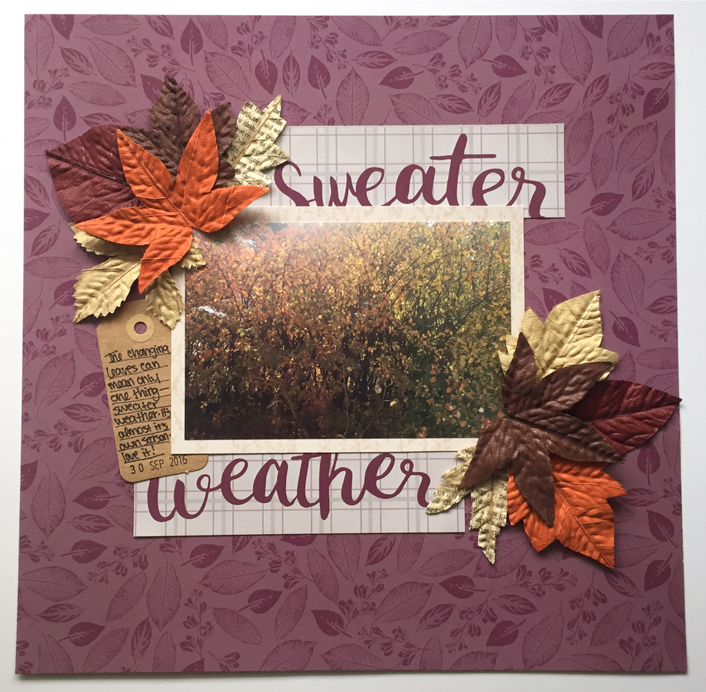 Alexandria Shares her Sweater Weather Layout