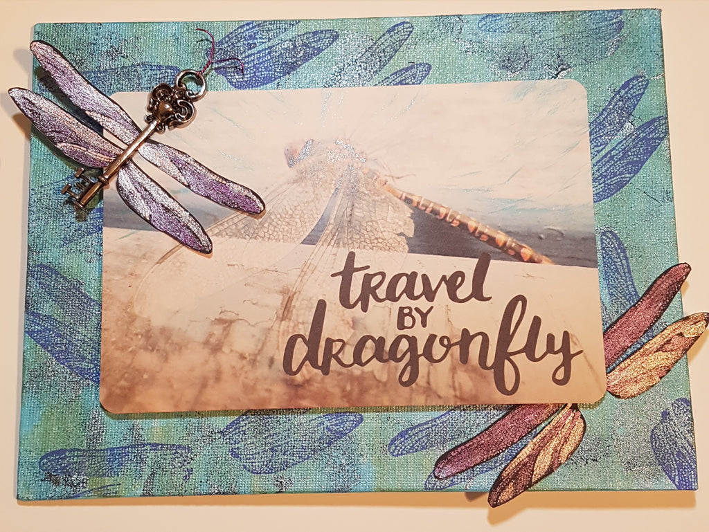 Cathy's Whimsical Dragonfly Canvas