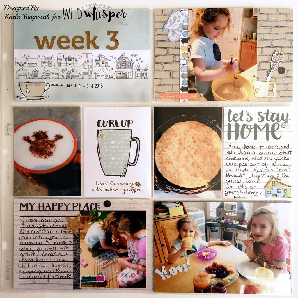 Project Life Spread with Process Video by Karla