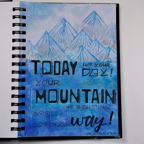 Art Journal Page Today is Your Day by Nadine Milton