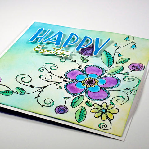 Wild Whisper Designs Fanciful Florals Easter Card by Nadine