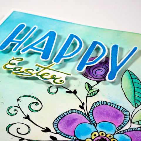 Happy Easter Stamped with Wild Whisper Designs Capital Letter Stamps