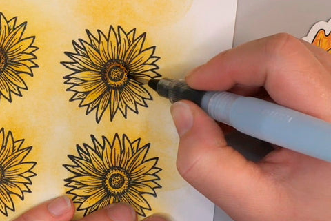 Coloring Wild Whisper Designs Strength of the Season Images with Watercolor Brush and Tim Holtz Distress Ink