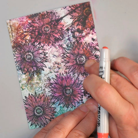 Blending Flower Images with Tim Holtz Distress Crayons