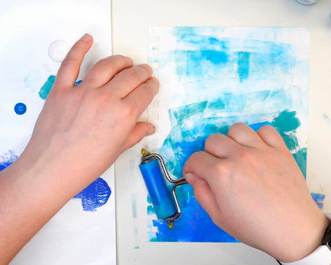 Adding Paint with a Brayer