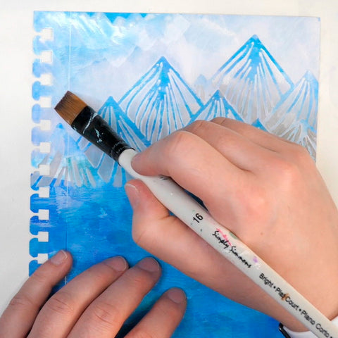 Using Liquitex Gesso to paint the sky