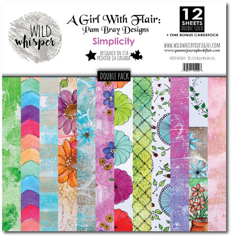Pam Bray Simplicity - DOUBLE 12x12 Paper Pack